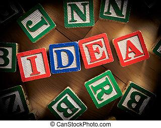 nuevo, concepto, idea