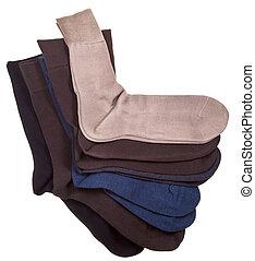 nuevo, conjunto, men'n, calcetines, algodón