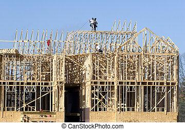 nuevo, construcción, 2, encuadrado