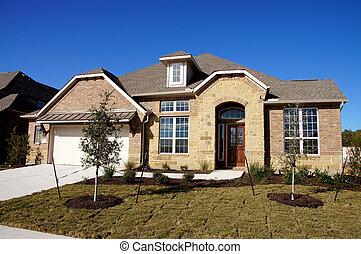 nuevo, construcción, bungalow, casa