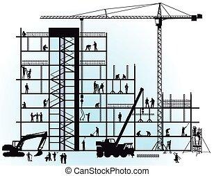 nuevo, construcción