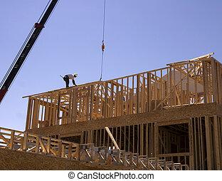 nuevo, construcción, hogar