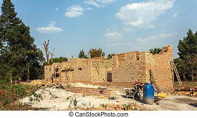 nuevo, construcción, residencial