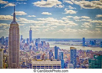 nuevo, contorno, york