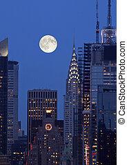 nuevo, contorno, york, th, ciudad