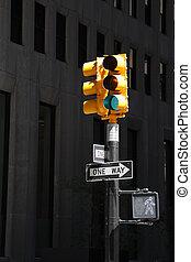 nuevo, crosswalk, york, ciudad