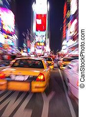 nuevo, cuadrado, ciudad, york, épocas