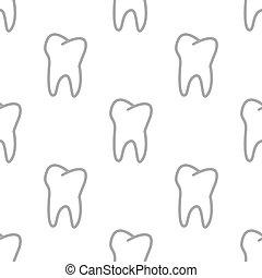 nuevo, diente, seamless, patrón