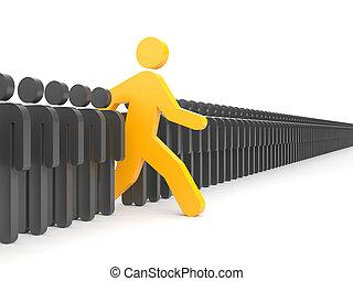 nuevo, diferente, corra, personas., oportunidades