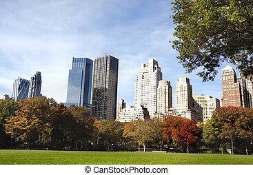 nuevo, edificios, york, ciudad