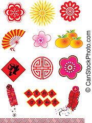 nuevo, elementos, chino, año