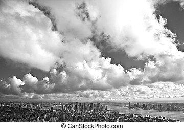 nuevo, encima, york, vista