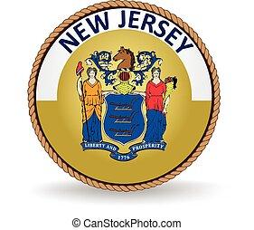 nuevo, estado, jersey, sello