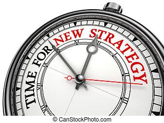 nuevo, estrategia, reloj de tiempo