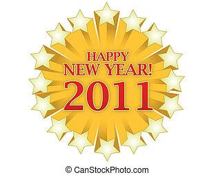 nuevo, feliz, 2011, año