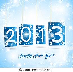 nuevo, feliz, 2013, año