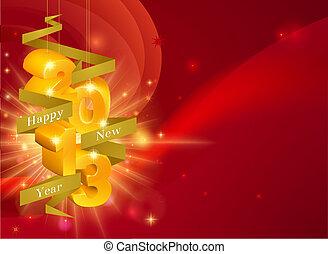 nuevo, feliz, 2013, decoraciones, año