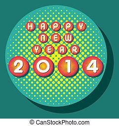 nuevo, feliz,  2014, año