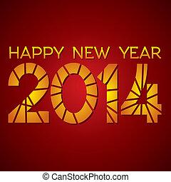 nuevo, feliz,  2014, Plano de fondo, año