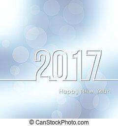 nuevo, feliz, 2017., año