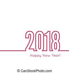 nuevo, feliz, 2018, theme., año
