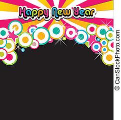 nuevo, feliz, fiesta, año
