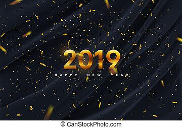 nuevo, feliz, year., 2019