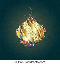 nuevo, feriado, tarjeta, años