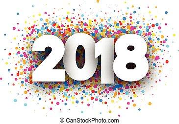 nuevo, festivo, año, 2018, fondo.
