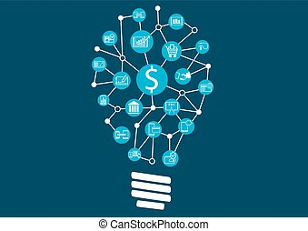 nuevo, financiero, tecnología, digital