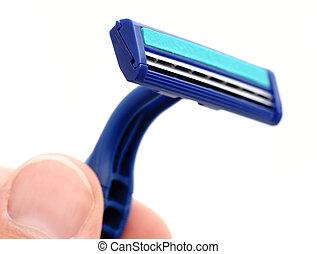 nuevo, hoja, maquinilla de afeitar desechable