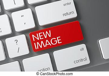 nuevo, imagen, 3d., keypad.