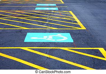 nuevo, incapacidad, terreno, estacionamiento