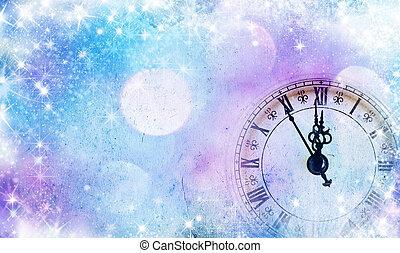 nuevo, medianoche, año