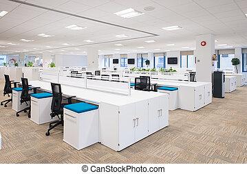 nuevo, oficina vacía