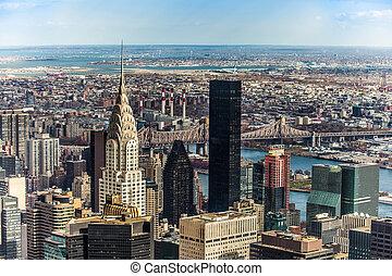 nuevo, paisajes, york, ciudad