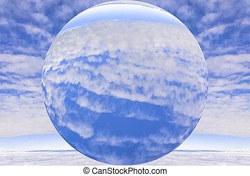 nuevo, planeta, y, atmósfera