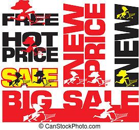 nuevo, precio, grande, caliente, libre, venta