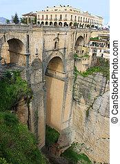 nuevo,  ronda, スペイン, 橋,  puente