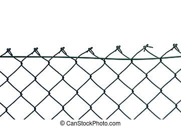 nuevo, seguridad, alambre, aislado, cerca