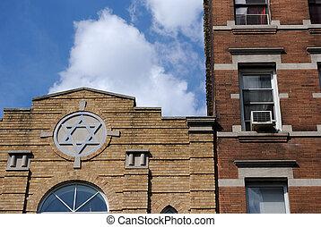 nuevo, sinagoga, york, ciudad