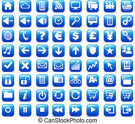 nuevo, tela, y, medios, internet, botones