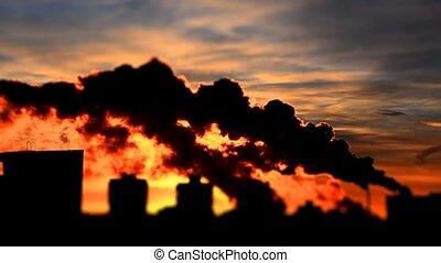 nuisible, atmosphère, émissions, substances