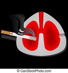 nuisible, fumer, poumons