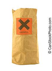 nuisible, sac papier brun, signe