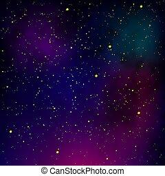 nuit, étoile, ciel, nébuleuse, cosmique, space., arrière-plan., étoilé, pattern., texture., galaxie