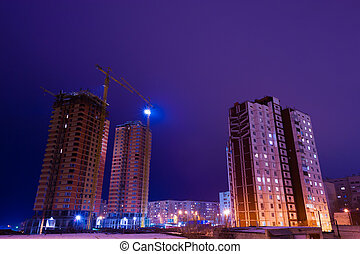 nuit, bâtiment