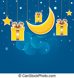 nuit, boîtes, vecteur, étoilé, eps10., sky., dons