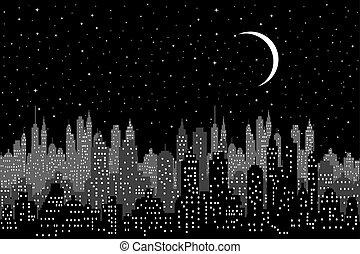 nuit, cityscape