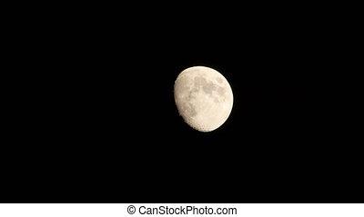 nuit, entiers, 4k, lune